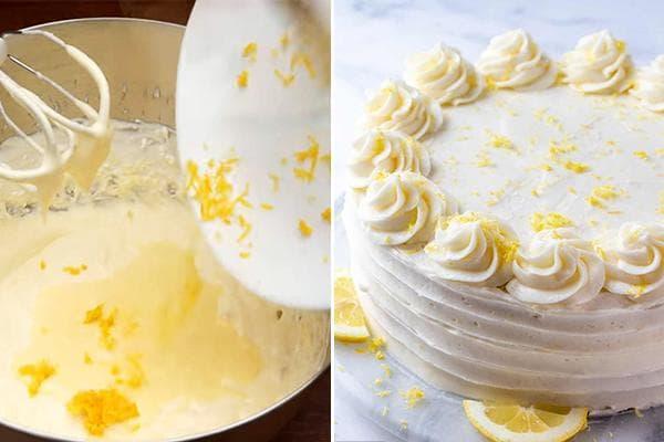 Крем с лимонной цедрой для торта