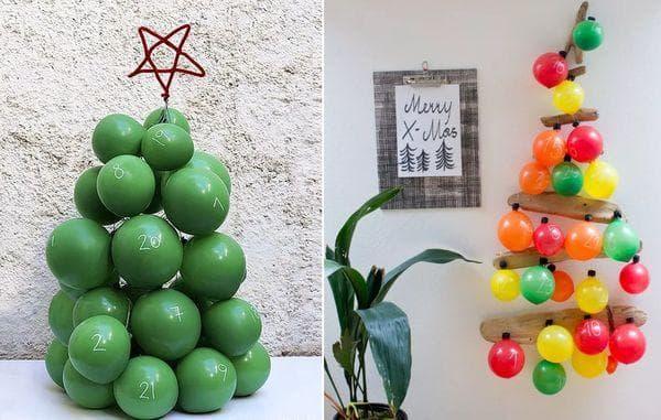 Адвент-календарь из воздушных шаров
