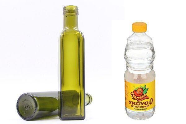 Бутылки и уксус