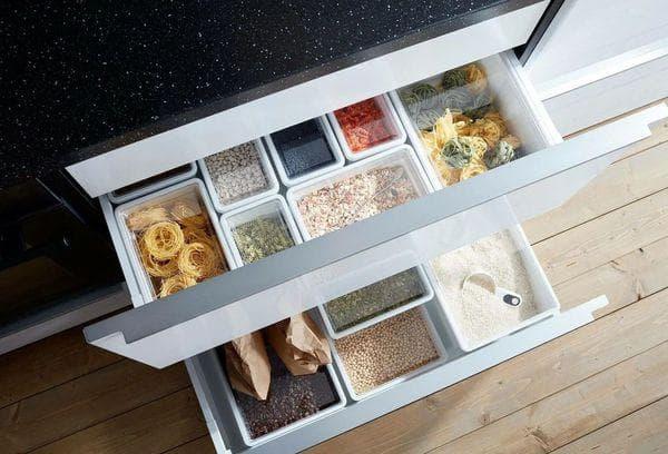 Кухонные ящики для мелочевки