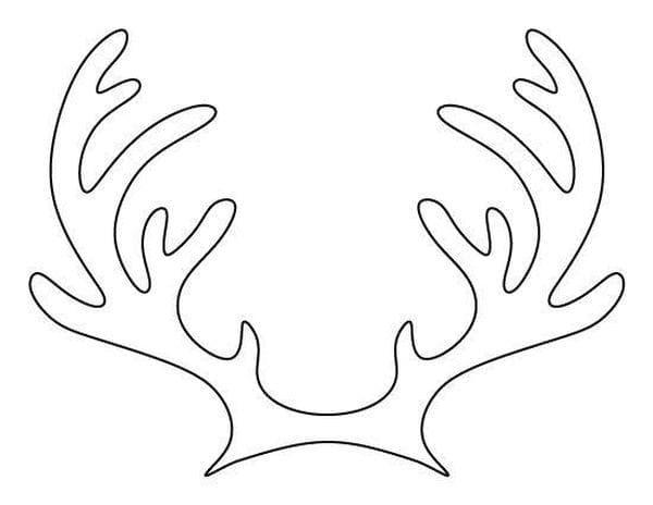 Шаблон оленьи рога
