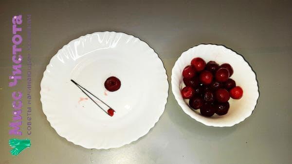 пинцет для удаления косточек из вишни
