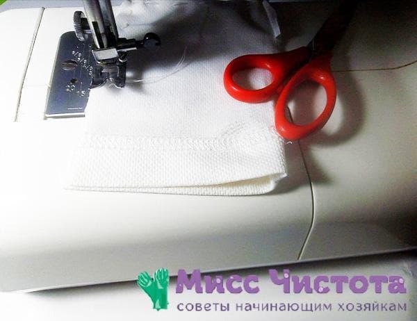 шитье на швейной машинке