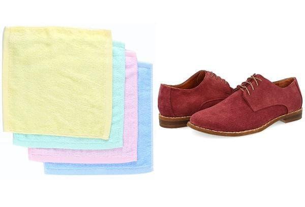 Фланелевые тряпки для чистки обуви из замши