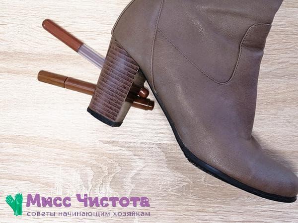 маскировка царапин на кожаной обуви