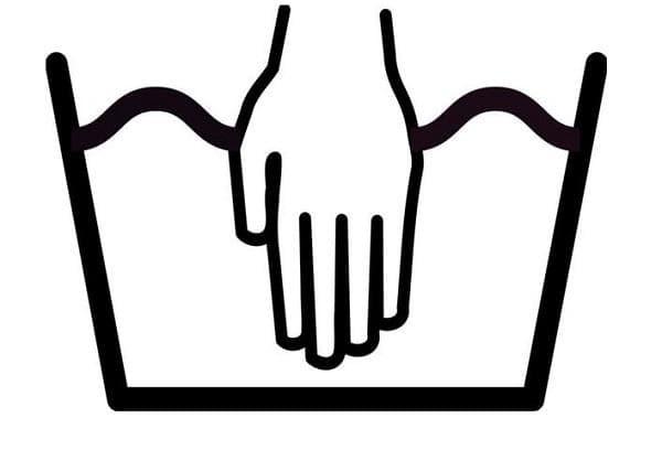 Знак ручная стирка