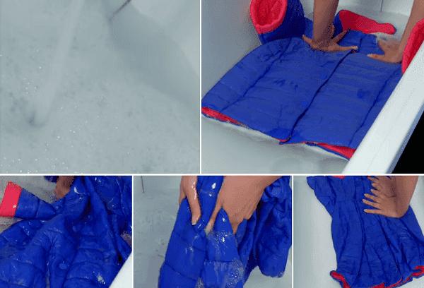 Ручная стирка куртки из полиестера