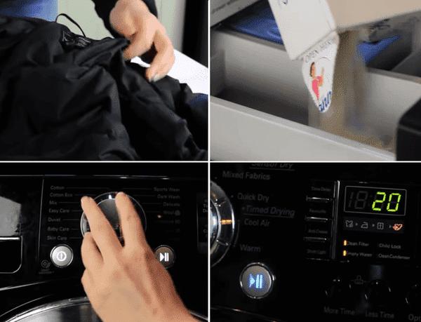 Стирка куртки в машинке