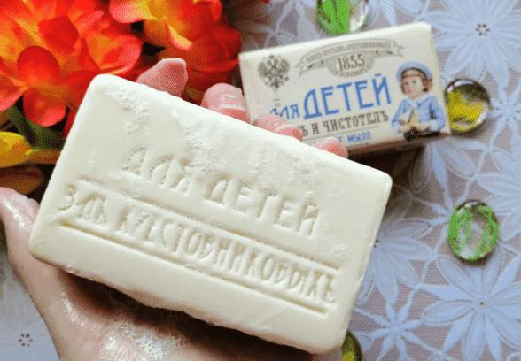 детское кусковое мыло