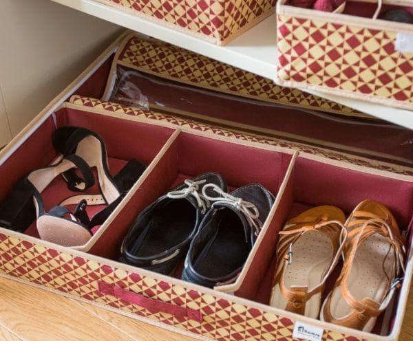 Хранение обуви из кожи