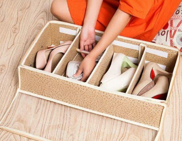 Хранение в обувных коробках