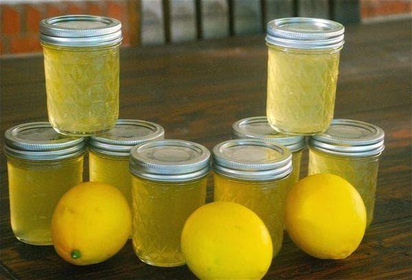 Желе из лимонов
