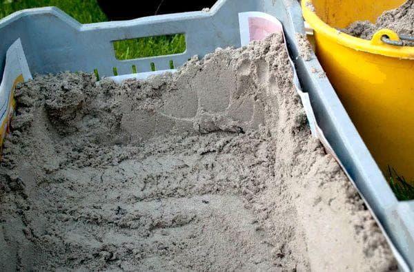 Ящик с песком для огурцов