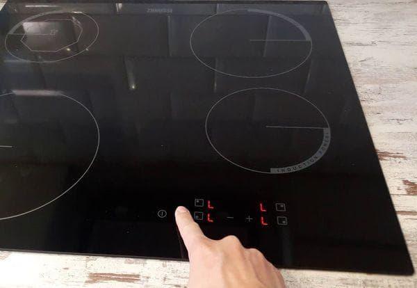 Включение индукционной плиты