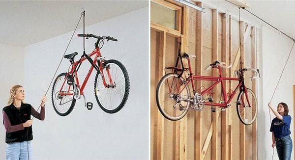 Велосипеды на потолке