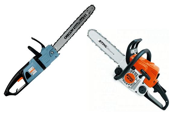 Бензо и электрическая пила