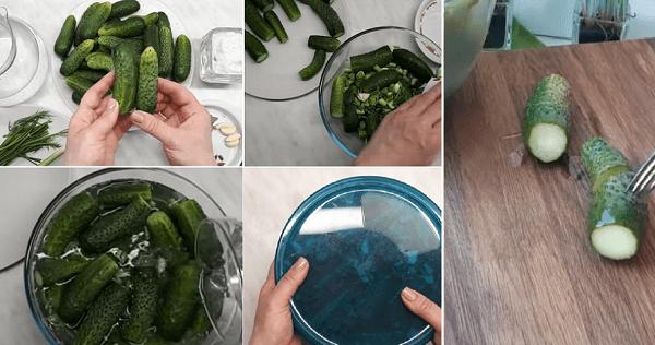 Приготовление соленых огурцов