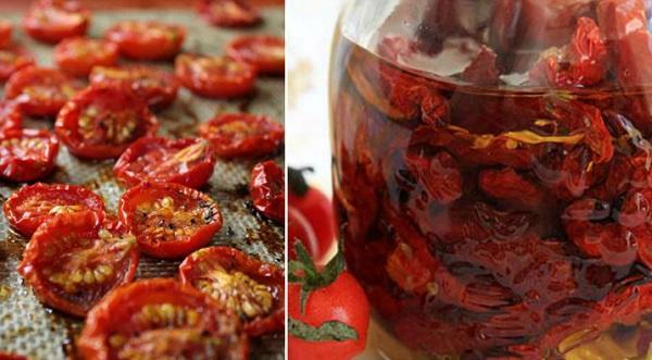 Хранение вяленых помидоров в масле
