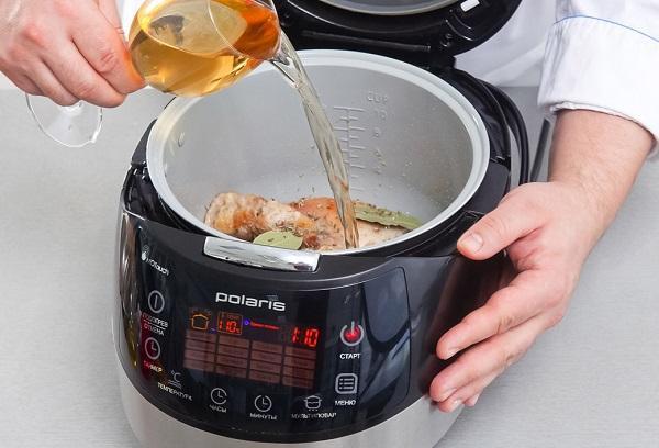 Приготовление блюда в мультиварке