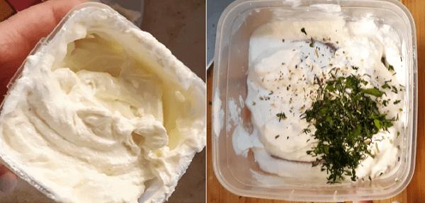 Сыр из кефира с зеленью