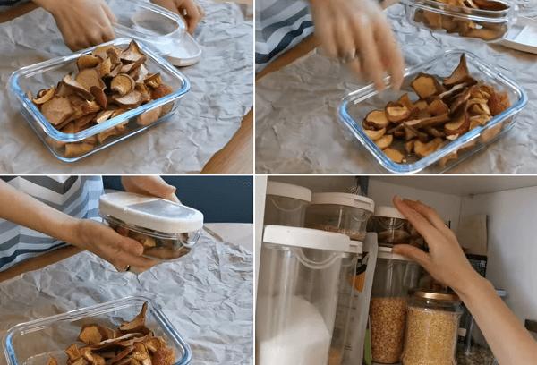 Хранение сухофруктов в пластиковом контейнере